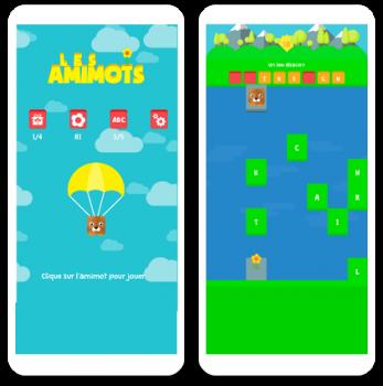 Les amimots jeu mobile par 8PIX développeur d'applications mobiles.