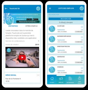 Application de recherche d'emplois par 8 pix développeur d'applications mobiles.